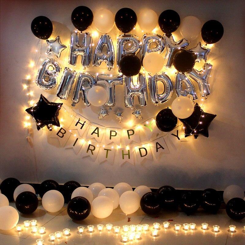 16 Inch Weihnachten Folie Glucklich Geburtstag Brief Luftballons