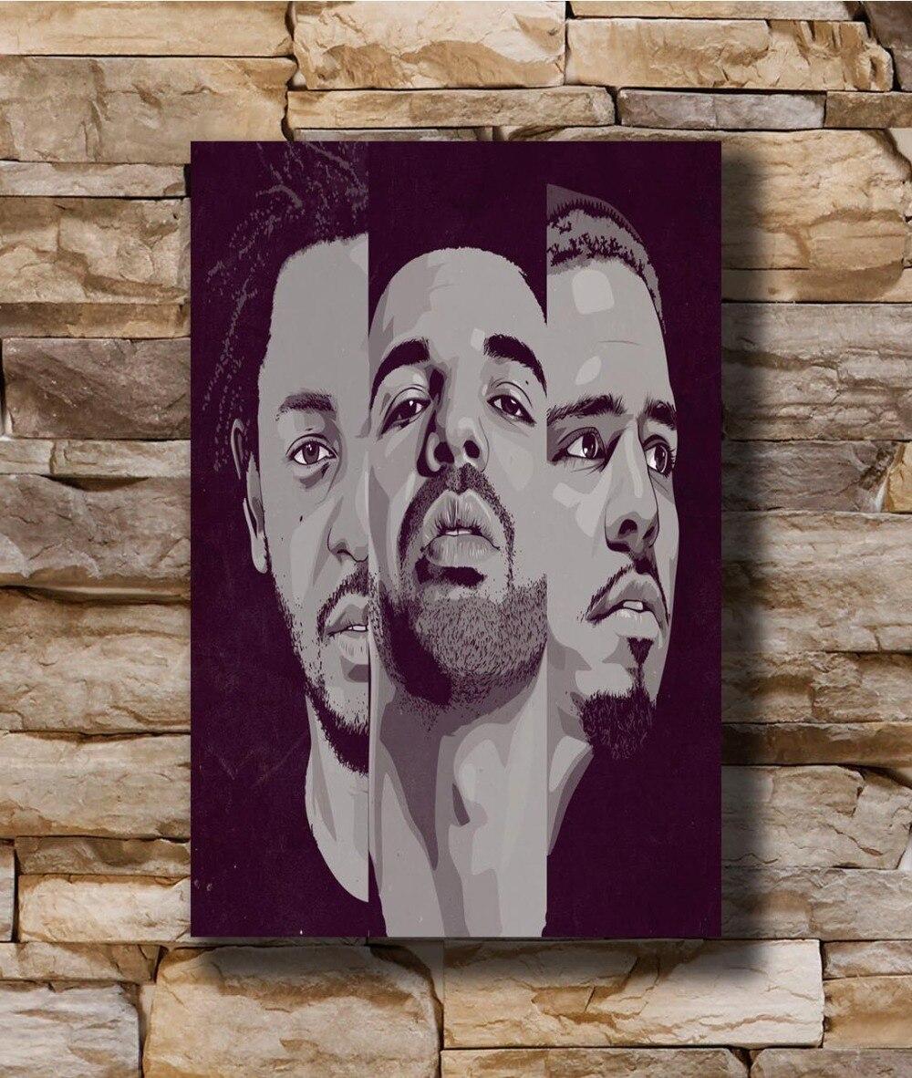 Kendrick Lamar DAMN poster wall decoration photo print 24x24 inches