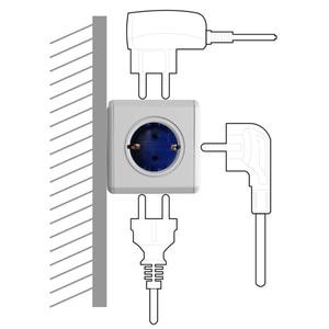 Image 3 - Allocacoc האיחוד האירופי Plug Powercube חשמלי לשקע USB האיחוד האירופי תקע חשמל רצועת רב הארכת שקע מתאם נסיעות מתאם חכם בית שימוש