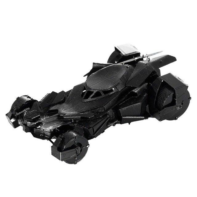 Colorful Batman V Superman Batmobile Fun 3d Metal Diy Miniature Model Kits Puzzle Toys Children Educational Boy Splicing Hobby