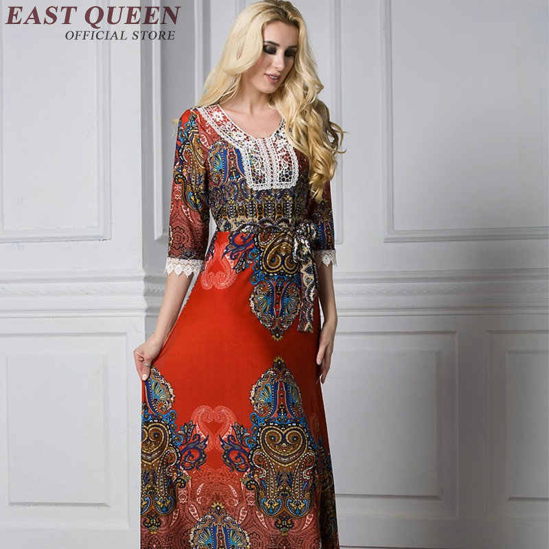 Plus size women clothing mexican embroidered dress hippie clothing women  hippie chic dress KK1662 H