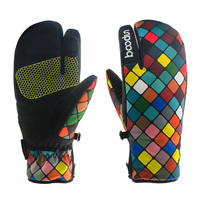 Women Ski Gloves Winter Snowboard Glove Windproof Professional Head All Weather Waterproof Skiing And Snowboarding Sport