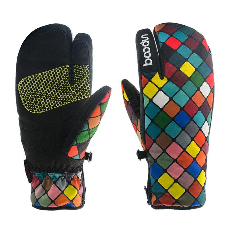 Women Winter Waterproof Ski Gloves Kids Snowboard Glove Adult Windproof Skiing Sport Non-Slip Gloves Snow Cotton Warm Mittens