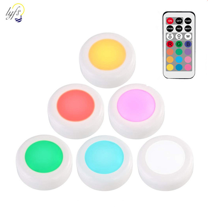 RGB 12 Colors LED Night Light Touch Dimmable With Remote Control Color Changeable For Cupboard Stair Hallway Night Lamp