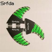 SRFDA High Quality FCS-G5 Honeycomb Fiberglass Tail Surfboard Thrusters Rudder Surf  Fins Fcs/Fins quillas quilhas Keels 3 pcs