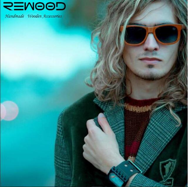 Rewood Brand Designer Bamboo Sunglasses Men Wood Sunglasses Skateboard Wooden Polarized Eyewear oculos de sol masculino