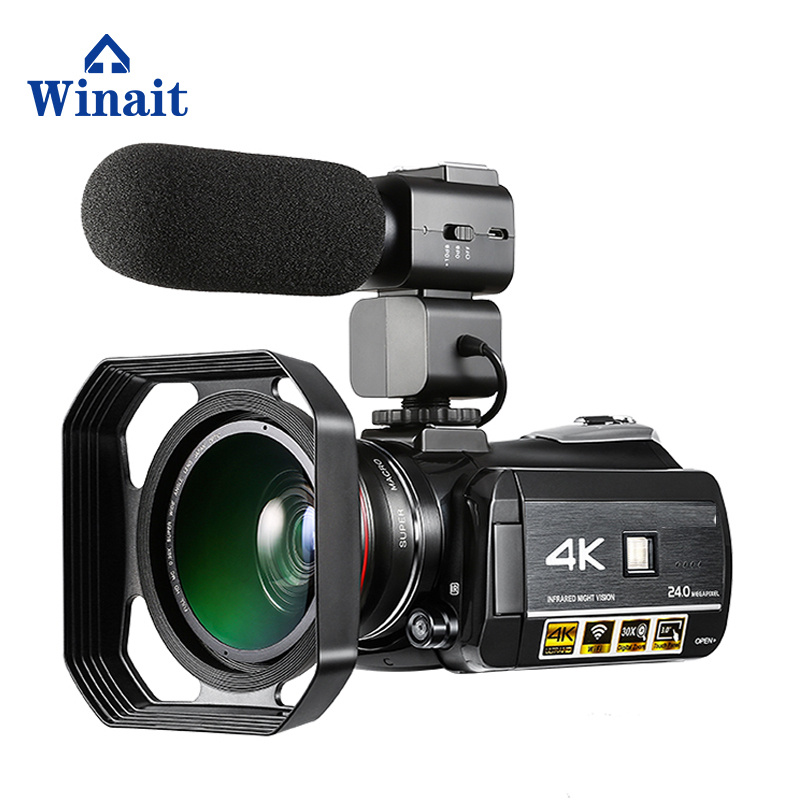 Winait HDV-AC3 UHD 4k WIFI TWO LED newest 2018 digital video camera Hotshoe wifi night vision digital video camcorder