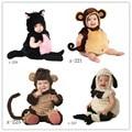 Детские фотографии аксессуары для младенцев и малышей обезьяна овец кошка животное костюм 4-12мес ребенок студия фотосессии реквизит