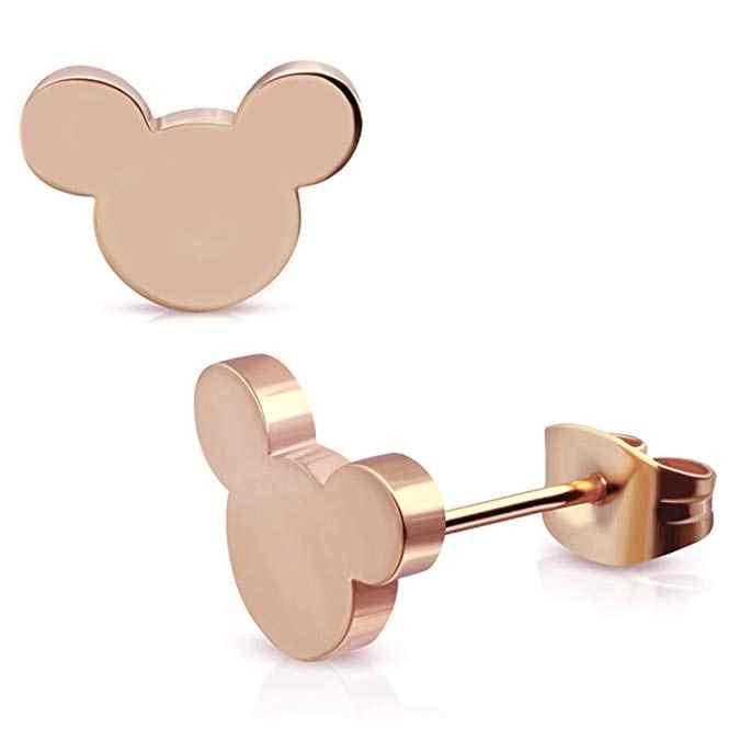 Cxwind ออกแบบใหม่การ์ตูน Mickey Minnie Stud ต่างหูสัตว์น่ารักสำหรับสาวเด็กผู้หญิง 2019 เครื่องประดับสแตนเลส