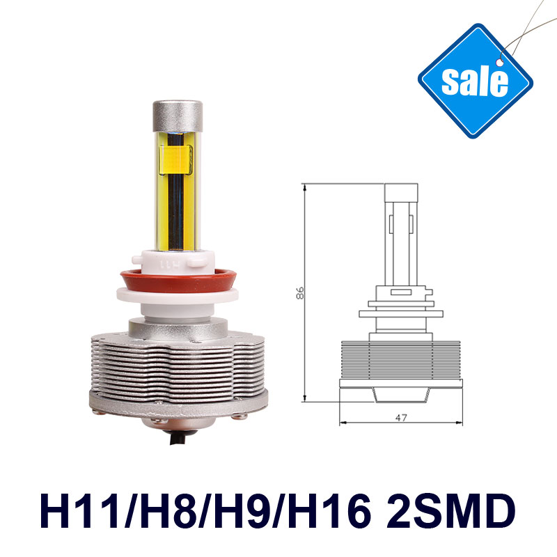 High Power Auto H16 LED Fog Lamps Conversion Kit H16 Car Bulbs 3000K 20W 2400LM Golden Lights 12V LED Lamp дефлектор auto h k gt 36964