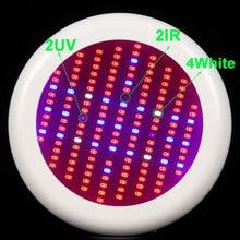 1 pcs ufo 150 w rouge bleu uv ir blanc led lampe pour la croissance des plantes lumière ac85-265v led élèvent la lumière hydroponique usine élèvent l'éclairage