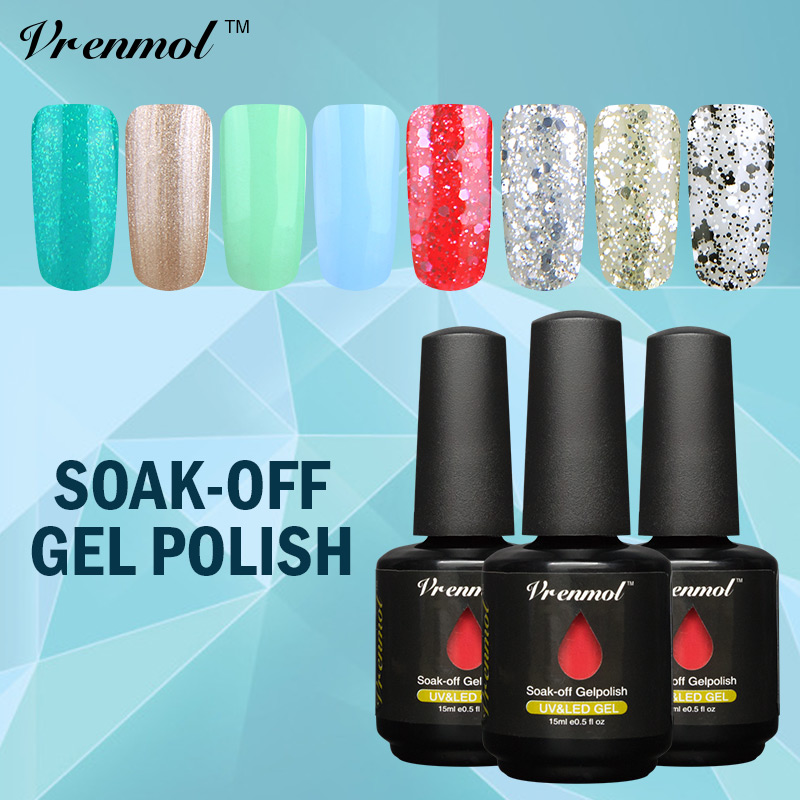 vrenmol uv nail gel polish diy nail manicure kit uv professional gel semi permanent vernis soak