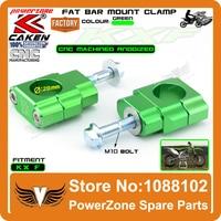 Billet HandleBar 1 1/8 Fat Bar Risers Mount Clamp Fit KX KXF KX125 KX250 KX250F KX450F Dirt Bike Motocross Enduro Supermoto
