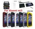 Xiaomi mi3 чехол ми 3 первоначально любовь мэи мощный ударопрочный призма водонепроницаемый металла крышка телефона чехол MOQ : 1 шт.
