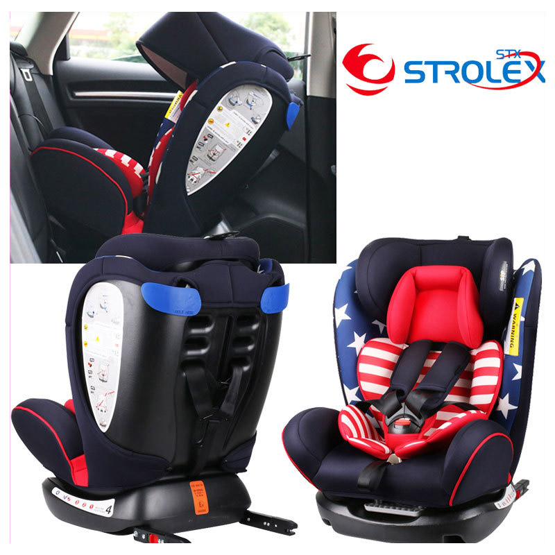 ISOfix Interface Child Car Safety Seat Convertible Baby Car Booster Seat Ajustable Laying Sitting Five Point Safety Harness CCC