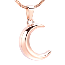 IJD12833 Stainless Steel Color Moon Cremation Ashes Urn Necklace Memorial Keepsakes Jewelry for Pendant