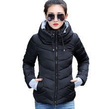 Winter New Women s Hooded Down Jacket Fashion Long sleeved Cotton Clothing 2016 Casual Style Plus