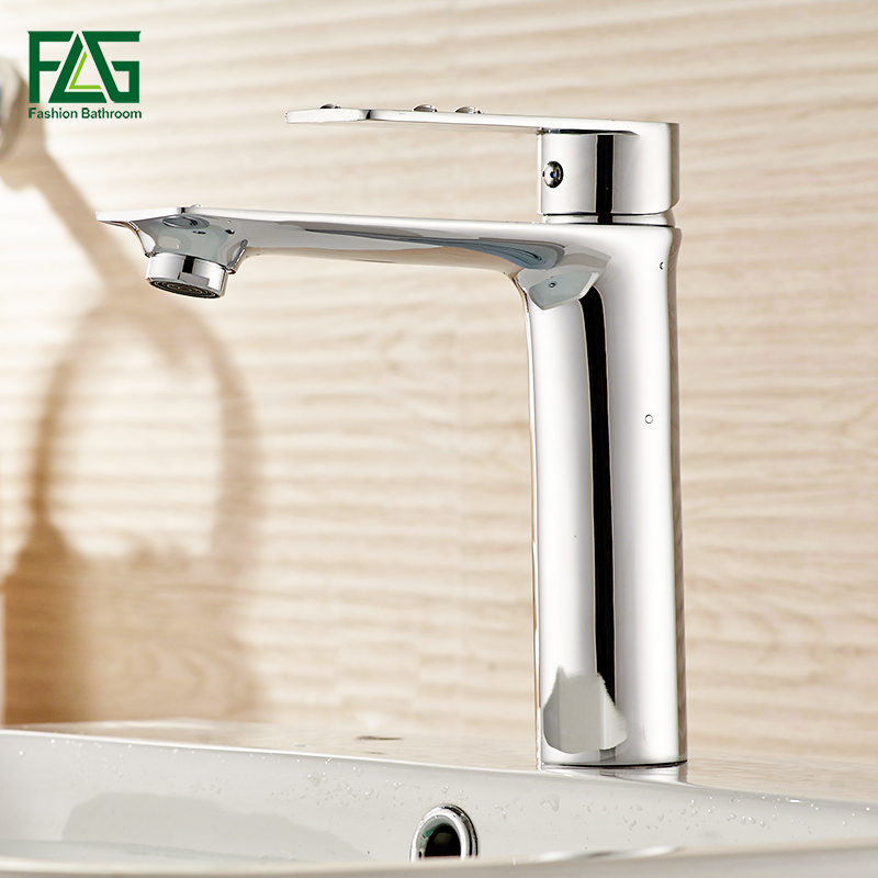 FLG Water Mixer Bathroom Basin Sink Faucet Brass Bathroom Mixer Taps Modern Bathroom Faucet Chrome&Black&White Basin Mixer Tap nieneng big discount basin washroom mixer bathroom faucet tap mixers wc sanitary ware water toilet taps polished chrome icd60157