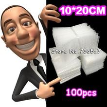 100x200 мм воздушно-пузырчатой упаковочной пленкой Обёрточная бумага мешки Жара-запечатывание упаковочные тюбики из ПЭ почтовая упаковка посылка