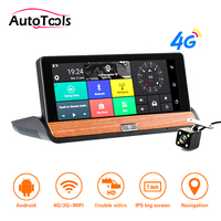 7.8inch Car DVR Camera with 4G ADAS Rear View Mirror 1080P GPS Dash Cam Video Recorder with parking camera