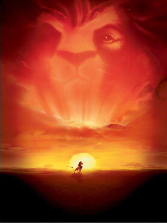 10x10ft Orange Crimson Sunset Sky Lion King Simba Baby