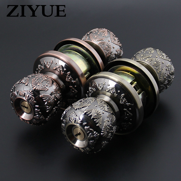 Free Shipping Classical Home office bathroom living Room Door Ball Spherical Lock free shipping high quality interior room round door ball spherical lock bathroom apartment handle door lock