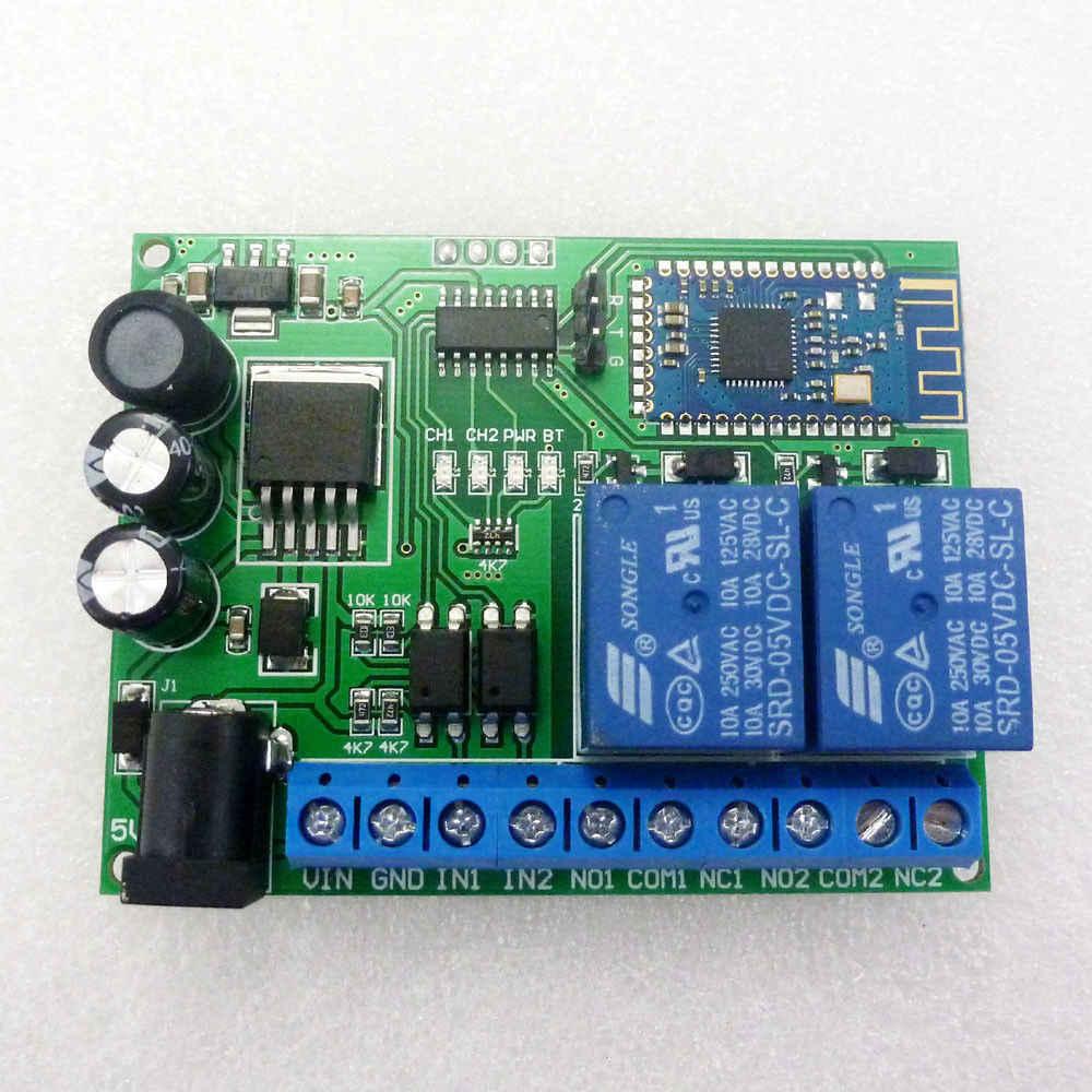 2CH بلوتوث التطبيق DC 5V 12V 24V 2.4G RF اللاسلكية عن بعد مفتاح تحكم التتابع F/ IOS الروبوت الهاتف قفل باب كهربائي المحرك