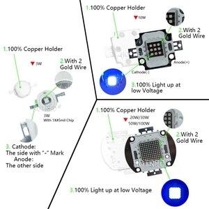 Image 4 - 3W 10W 20W 30W 50W 100W גבוהה כוח UV סגול LED 365nm 370Nm אולטרה סגול נורות מנורת 45mil שבבי אור חרוזים דיודה עבור DIY