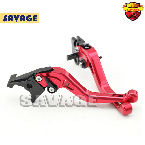 ФОТО For YAMAHA BT1100 03-06, FZS 600 FAZER 98-03 Red Motorcycle Accessories CNC Aluminum Short Brake Clutch Levers