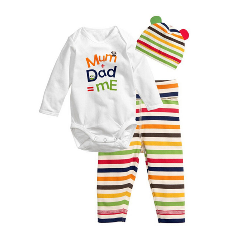 c9ed0f423b89 Buy 3Pcs Baby Rompers Autumn Baby Girl Clothing Set Mickey Baby Boy ...
