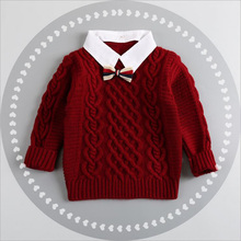 Hot Winter Children Clothing Unisex Kids Fashion Thick Knitted Turtleneck Sweater Coat Baby Boys Girls Sweater Pullover Outwear