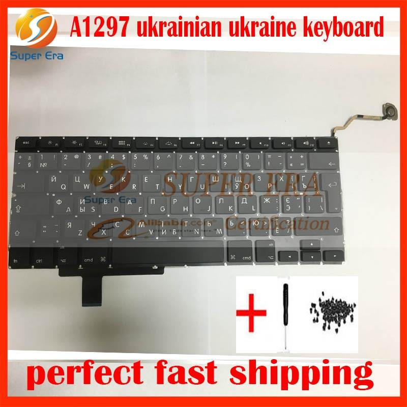 A1297 Ukraine Ukrainian keyboard for macbook pro 17'' 2009 2010 2011year