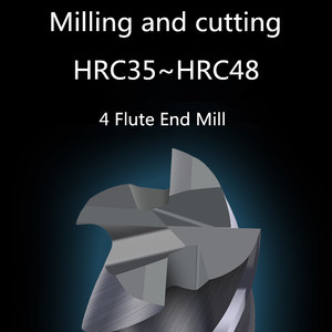 Image 2 - ZGT Milling Cutter Metal Cutter HRC50 4 Flute Endmill Cnc Tools Alloy Carbide Milling Tungsten Steel Milling Cutter End Mill 8mm