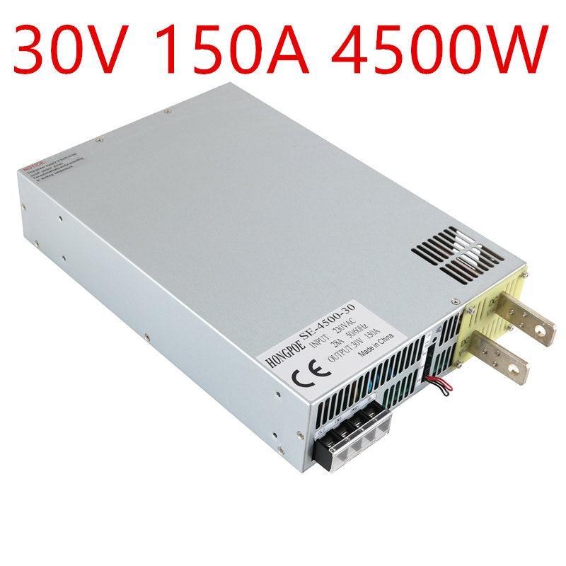 4500W 30V 150A DC0-30V power supply 30V150A AC-DC High-Power PSU 0-5V analog signal control SE-4500-30 DC30V 150A rps3020d 2 digital dc power adjustable power 30v 20a power supply linear power notebook maintenance
