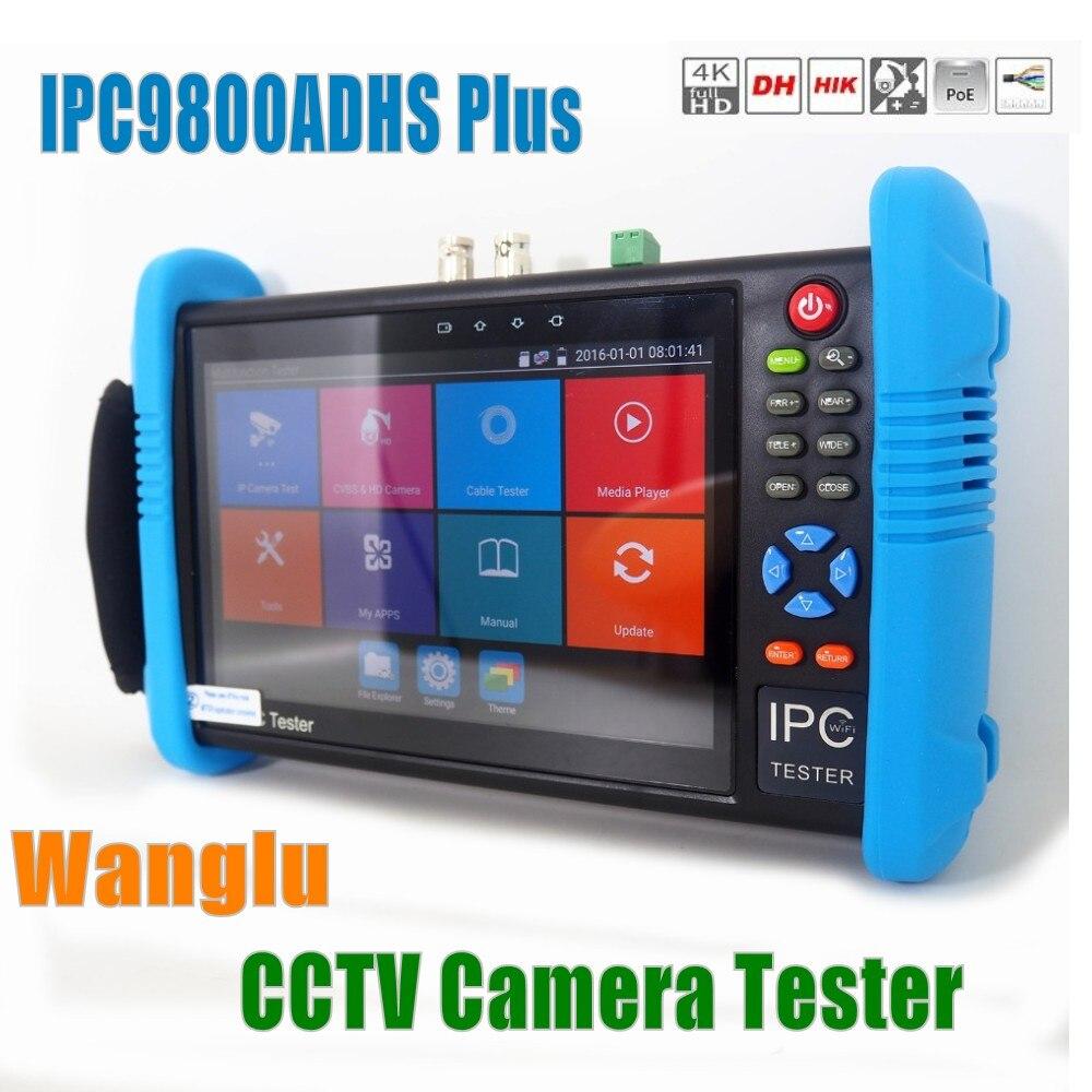 DHL Free Wanglu 7 inch IP Camera Tester 9800Plus H 265 4K 1080P IPC CCTV Monitor
