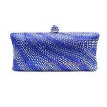 Platz Clutch Taschen mit Stern Kristall Diamanten für Damen Hochzeit Prom Abendgesellschaft