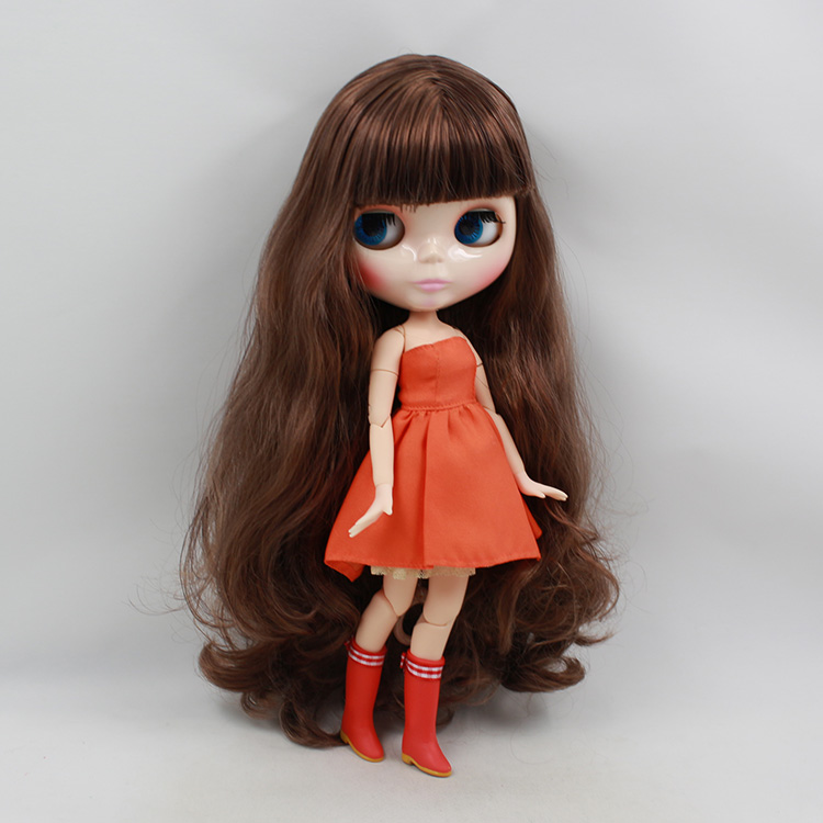 Blyth nude doll Joint body dolls collectibles brown long hair birthday dolls for sale