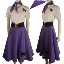 Hip hop fashion poodle skirt halloween costume daily wear women kids girls purple