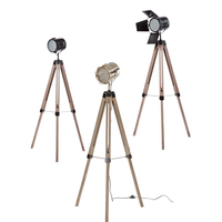 Industrial Nordic American Creative Studio Retro silver chrome golden Floor Light Tripod Searchlight Additional Net Floor Lamp