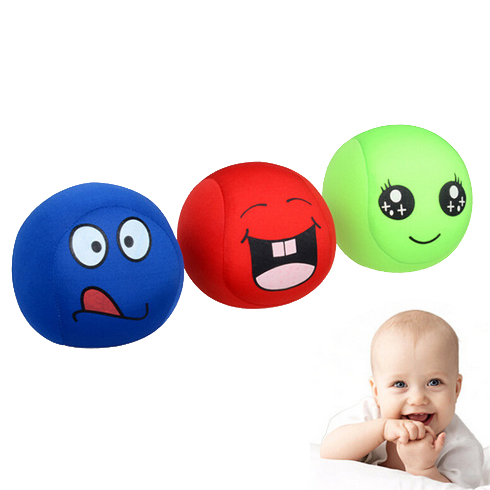 1 Pc Fashion Grasping Balls Soft EVA Smile Face Expression Sandbags Kids Baby Toys New Arrival