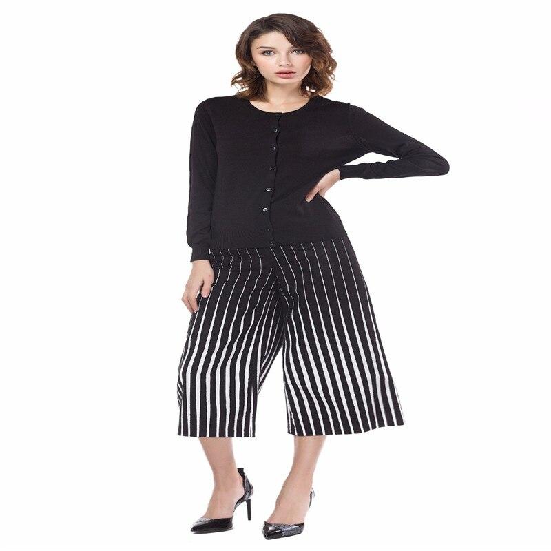 "Knitbest""100% Soft Cotton Cardigans Women Autumn Winter All-matching O-neck Black Simple Stylish Lady Knit Jacket Cardigans"