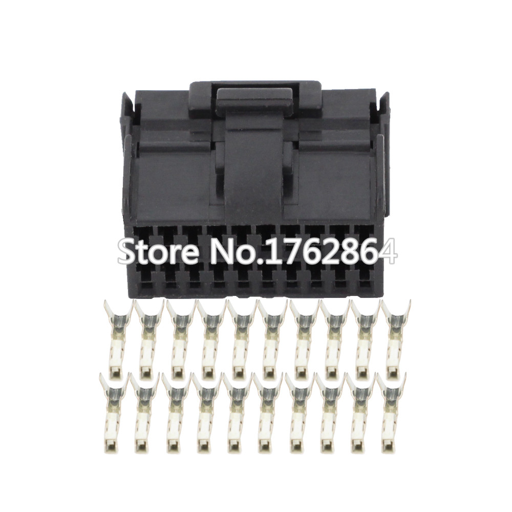20 Pin clamp black female car connector with terminal DJ7201 1 2 21 20P car connector in Connectors from Lights Lighting