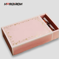 HARDIRON 250gsm Paper European Baking Box The New Pink Gold Foil West Point Cases Two Styles Box To Choose From