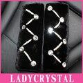 Ladycrystal 1 Pair Lana de Felpa Cubierta Del Coche Auto Del Cinturón de seguridad Del Cinturón de seguridad Hombrera Auto Del Coche Del Diamante Stylilng Accesorios Interiores