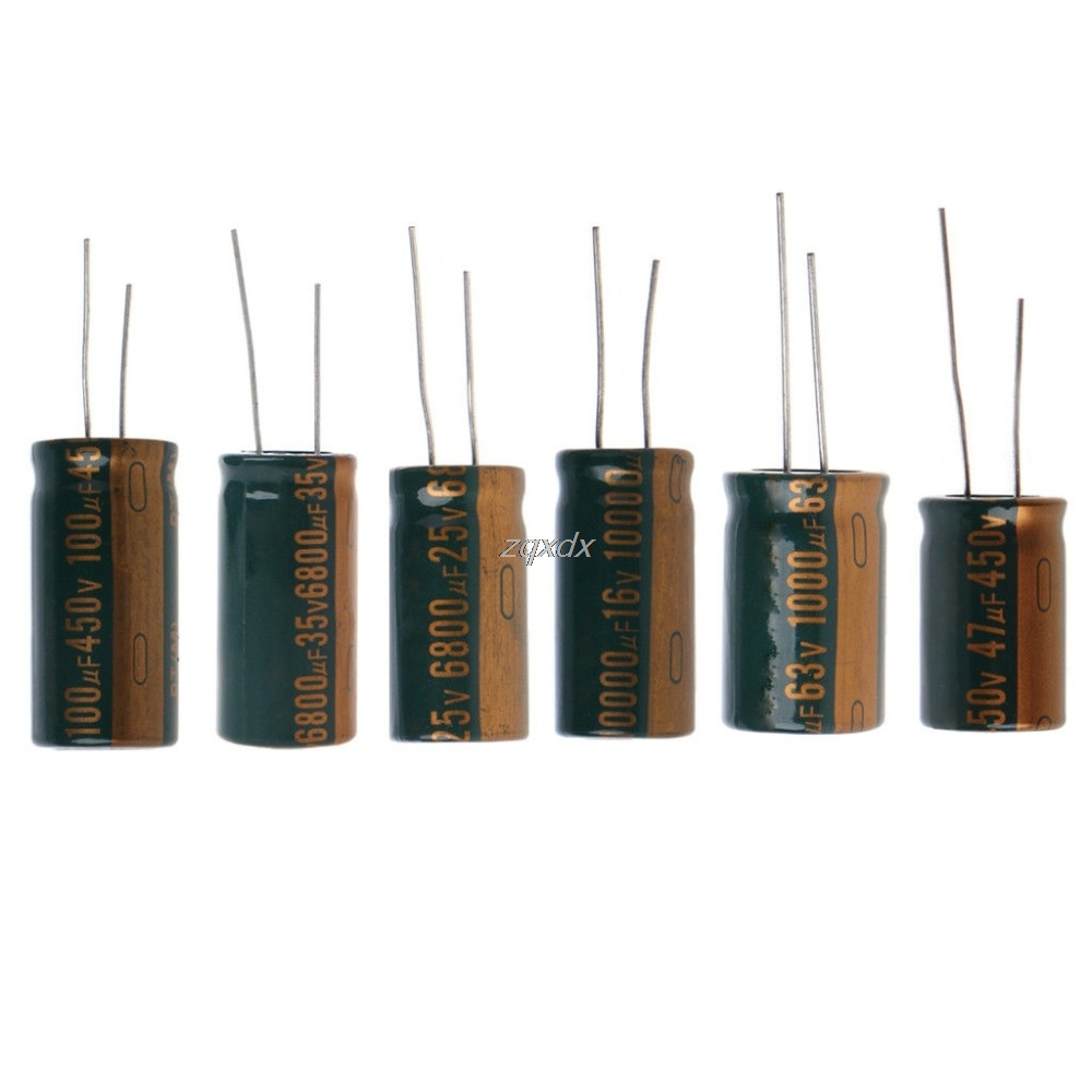 Capacitance Electrolytic Radial Capacitor High Frequency Low ESR 35V/16V/450V/25V/63V/450V 6800UF/10000UF/100UF/6800UF/1000/47UF image