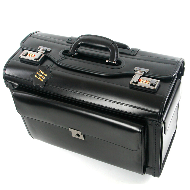 חדש רטרו אמיתי עור טייס מתגלגל מזוודות בקתה חברת תעופה דיילת נסיעות תיק על גלגלים עסקים עגלת מזוודות hangbag