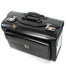 New Retro Genuine Leather pilot Rolling Luggage Cabin Airline stewardess Travel Bag on Wheels Business Trolley Suitcases hangbag