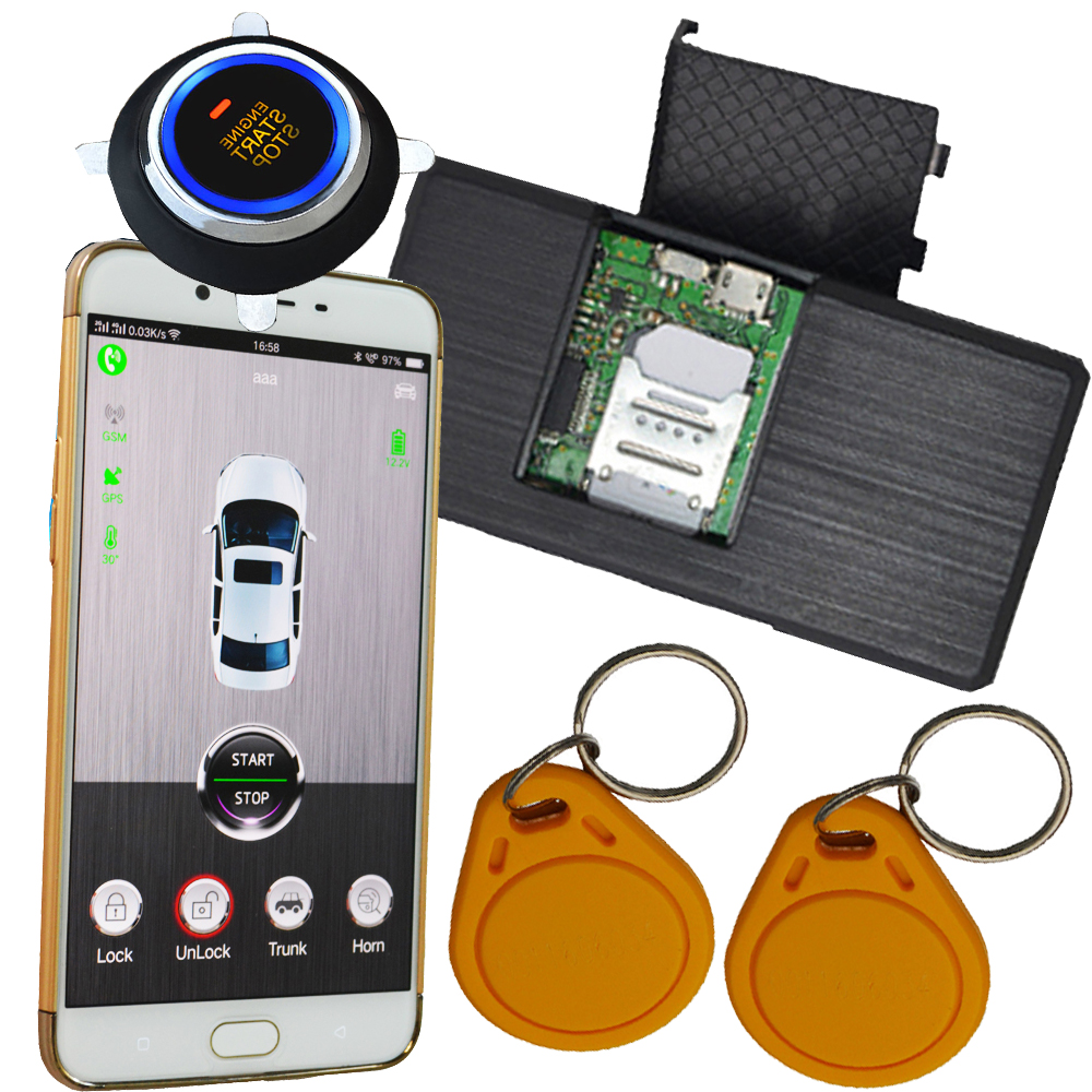 auto car security system with start stop button mobile app remote start stop engine online gps tracking c system ardot brand easyguard pke car alarm system remote engine start stop shock sensor push button start stop window rise up automatically