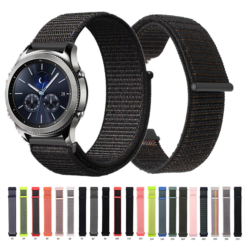 Nylon Watch Band 22mm 20mm Strap For Huawei GT/Magic For Samsung Galaxy Watch 46mm/42mm/Active For Amazfit Bip For Garmin 245
