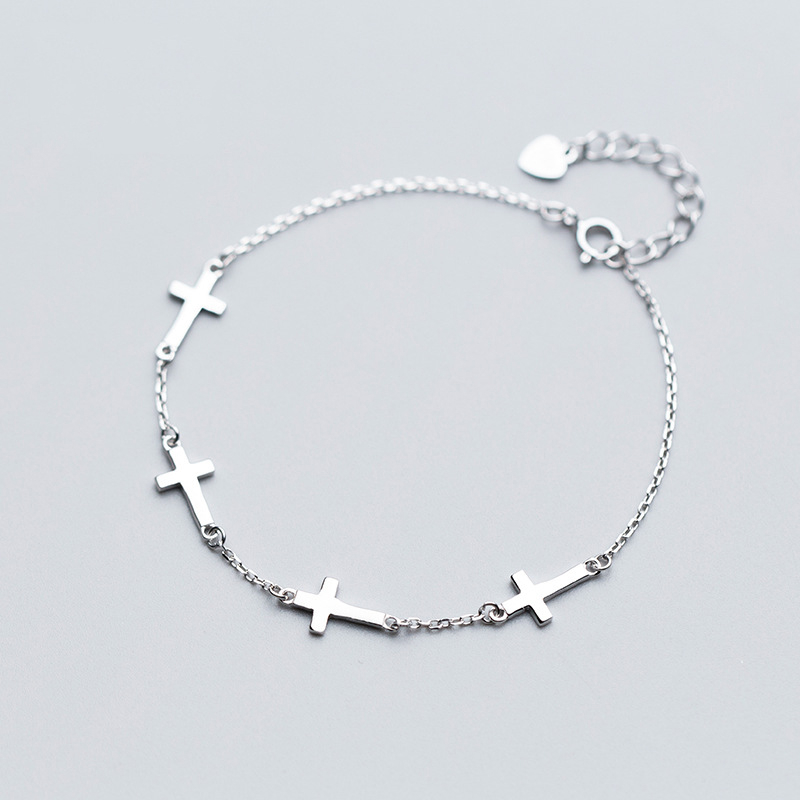 Cross Bracelets 100% 925 Silver Jewelry Charms Bangle Boho Vintage Minimalism Indian Jewelry Birthday Gift Bangles for Women